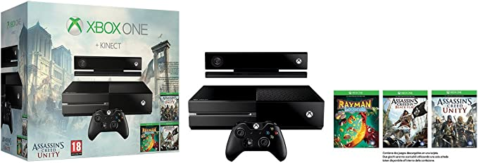 Microsoft 500GB Xbox One Bundle - juegos de PC (Xbox One, 8192 MB, DDR3, Blu-Ray, 500 GB, 10,100,1000 Mbit/s): Amazon.es: Videojuegos
