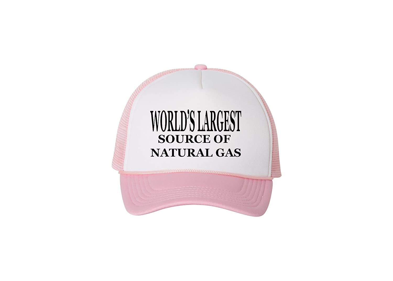 7fb7b9e0fc63a Amazon.com  Rogue River Tactical Funny Trucker Hat World s Largest Source  Of Natural Gas Baseball Cap Retro Vintage Joke (Black)  Clothing