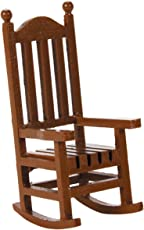 Darice Timeless Miniatures, Wood Rocking Chair Party Supplies, 1.5x3.75, Brown, 3 Pieces