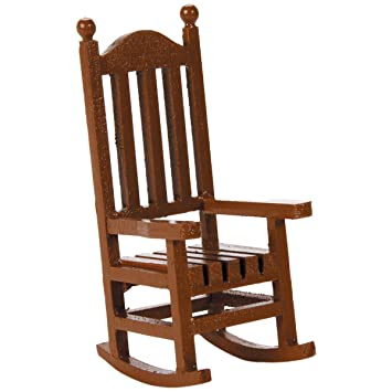 amazon co jp darice timeless miniatures wood rocking chair by