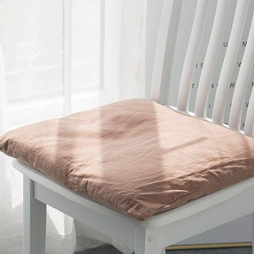 Q&F Cojines sillas Jardin Exterior Tatami Amortiguador de Asiento de Coche Silla Oficina Almohada de Ventana de bahía Cojín para sofá Bistro casa jardín Patio Cocina-Naranja 50x50cm(20x20inch): Amazon.es: Hogar