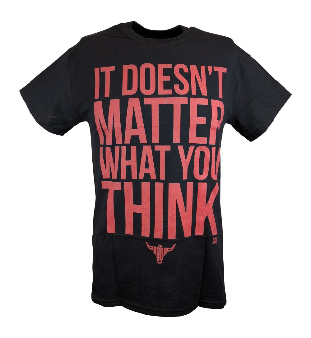 The Rock It Doesn't Matter What You Think WWE Mens T-shirt-L by WWE