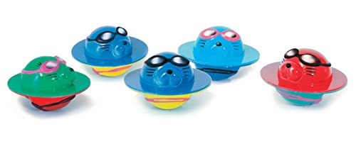 Zoggs Children's Safe Water Toys 5 Seal Flips for Aged up, Fun Pool Game - Multi-coloured, 3 moths
