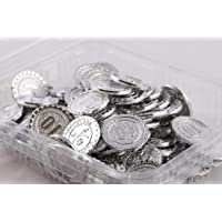 Amit Marketing Silver Color Numerical No. 10 Coins(Token) (Pack of 100 Pic), Silver Color, Best Quality
