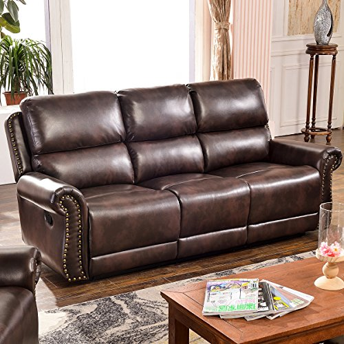 gns Sectional Recliner Sofa Set (Brown) (3-Seat Recliner) ()