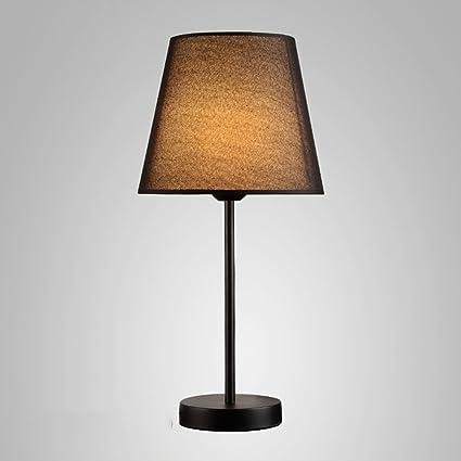 Lámpara de mesa Nan Tela Hierro Madera sólida Vino Tinto ...