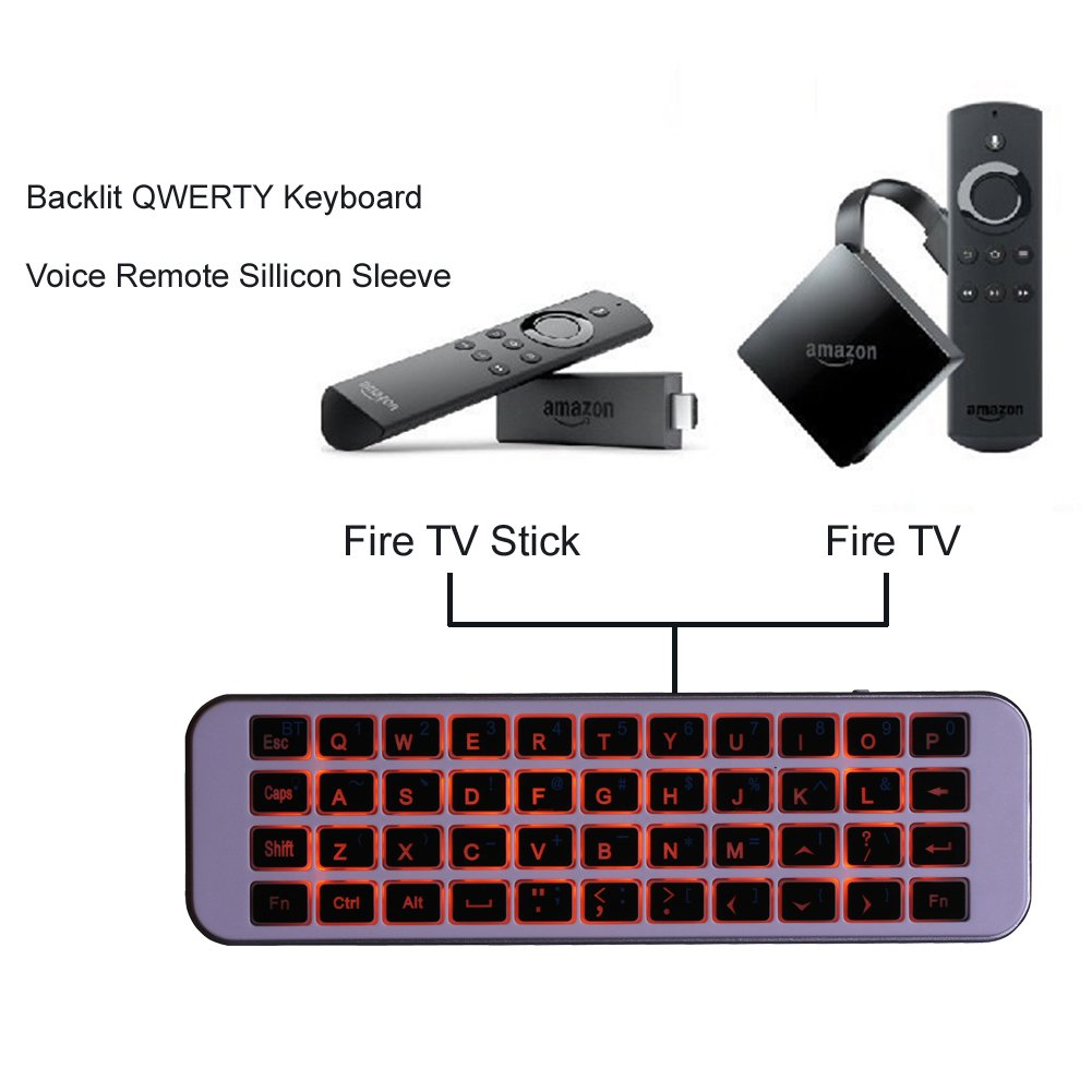 (Updated with Backlit) iPazzPort Bluetooth Keyboard Mini Wireless Keyboard LED Backlit Handheld Remote for PC, Smart TV,Android Box, KP-810-30BL by iPazzPort (Image #2)