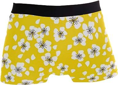 Jereee Flowers Mens Underwear Soft Polyester Boxer Brief for Men Adult Teen Children
