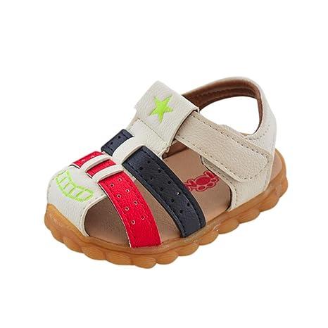 Niños Bebes Sandalias Ocasionales de Niños Moda Zapatilla de Deporte Patchwork Star Print Zapatos ¡Verano