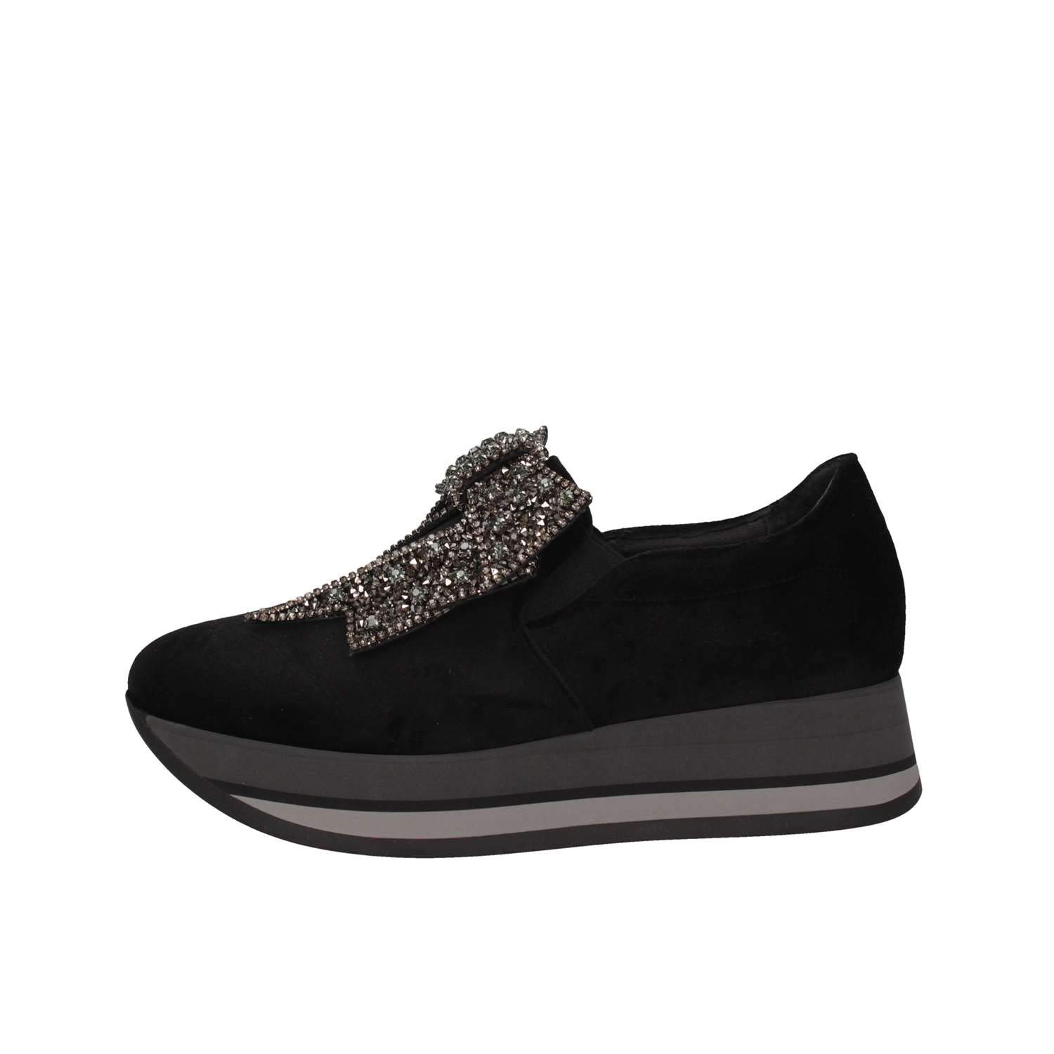 Luni Made In Femme Italy Made 1644 19809 VELLUTO Nero Slip on Femme Noir 8ebbc2f - deadsea.space