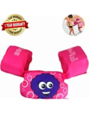 FireBee Swim Arm Bands Trainer Float Life Jacket Vest Learn Swimming Independence Fun Aid Water Pool Beach