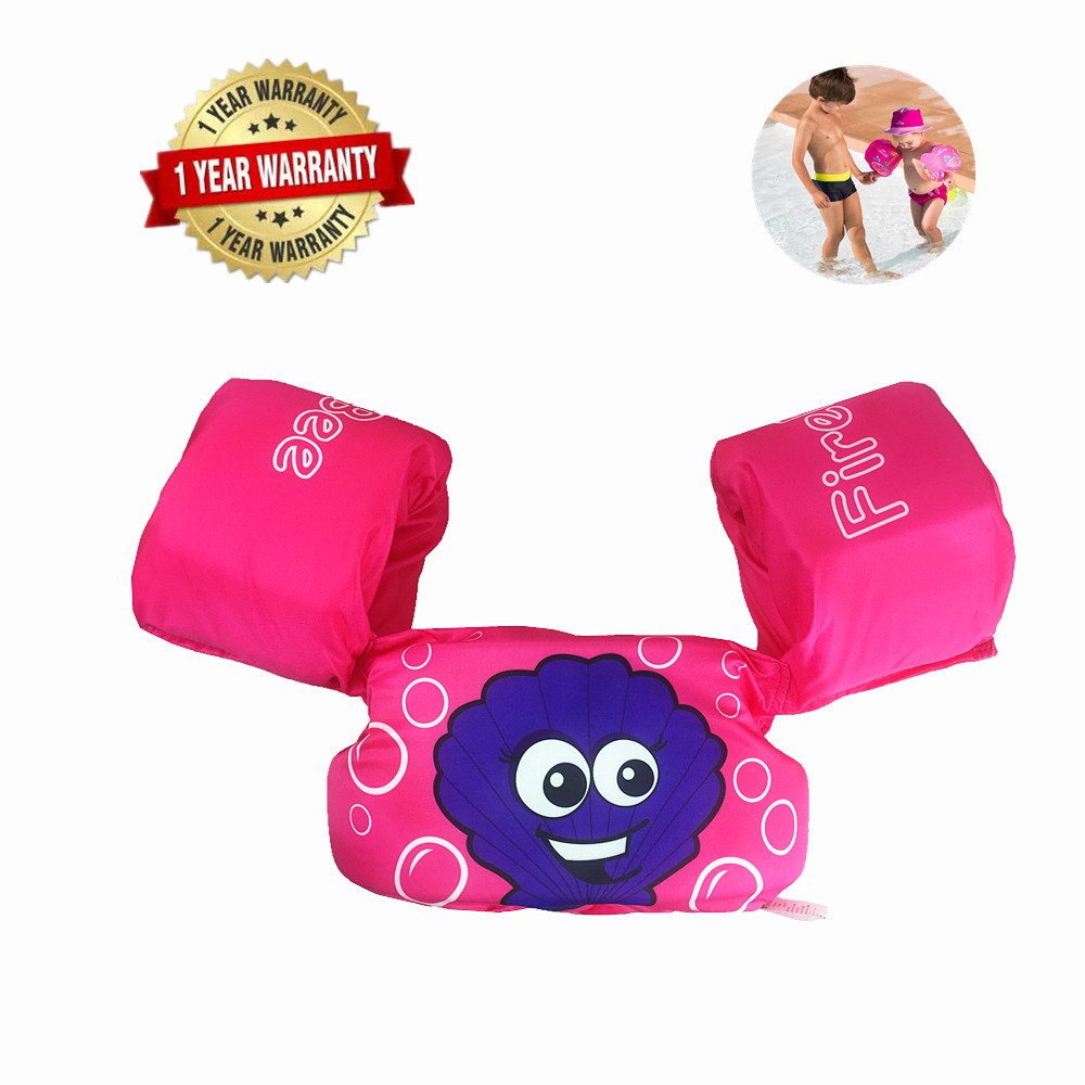 Swim Arm Bands Trainer Float Life Jacket Vest Learn Swimming Independence Fun Aid Water Pool Beach