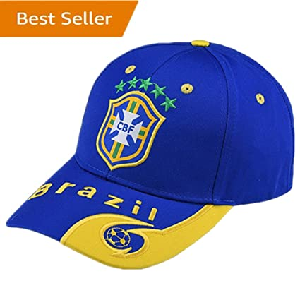 d946624a6 brand new 82f3a 19d4a Brazil National Team Soccer Cap - Adjustable Embroide  Blue Authentic 2018 Russia ...