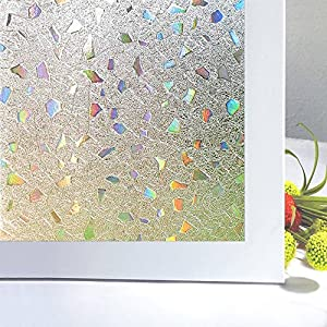 Bloss 3D Window Films Privacy Window Cling Static Decorative Film Non-Adhesive Window Stiker - 17.7 inch x 78.7 inch