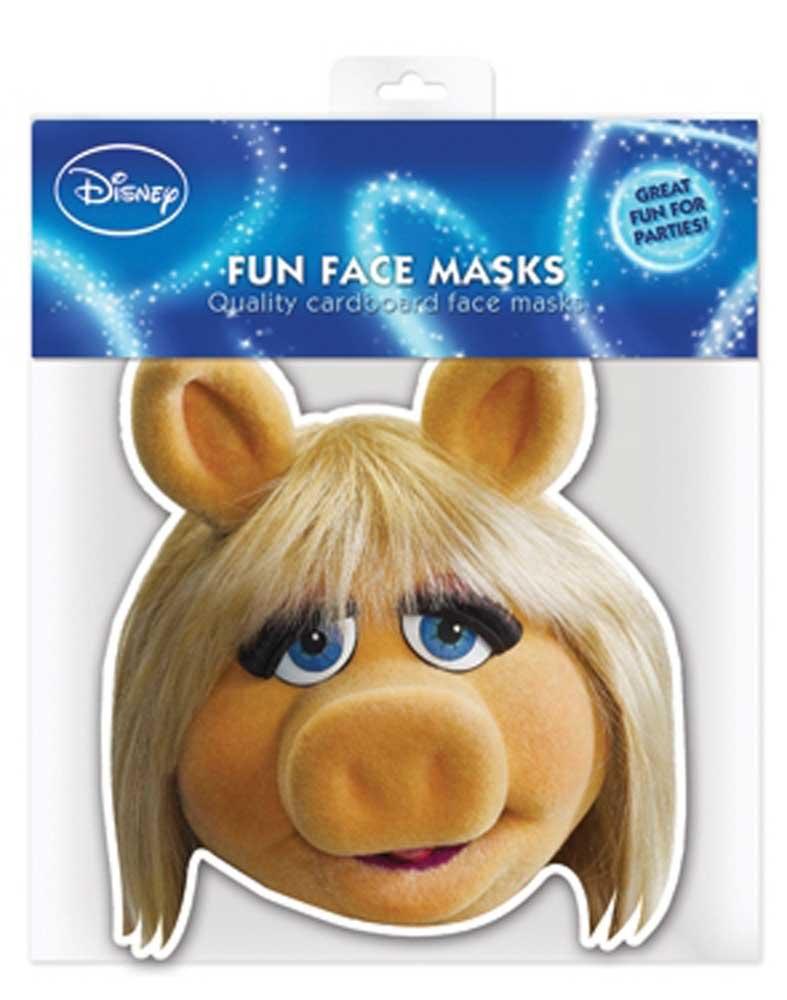 Muppets Miss Piggy - Papp Maske, aus hochwertigem Glanzkarton mit Augenlöchern, Gummiband - Grösse ca. 30x20 cm empireposter