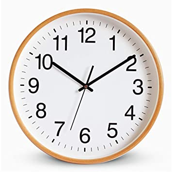 Amazoncom Wall Clocks Wall Clock Non Ticking Battery