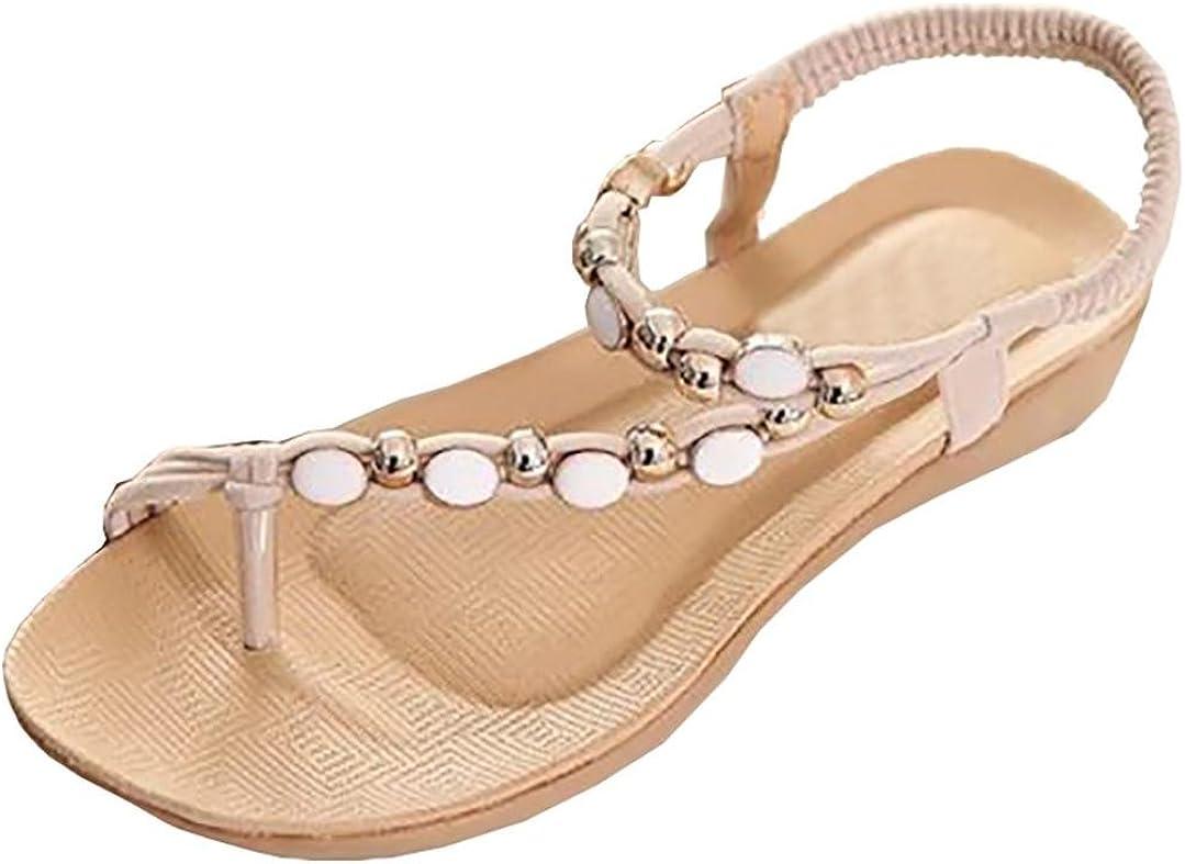 Kstare Women Sandals, Beaded Bohemia