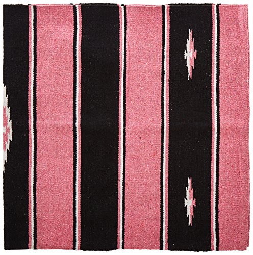 Tough 1 Wool Sierra Saddle Blanket, Pink/Black