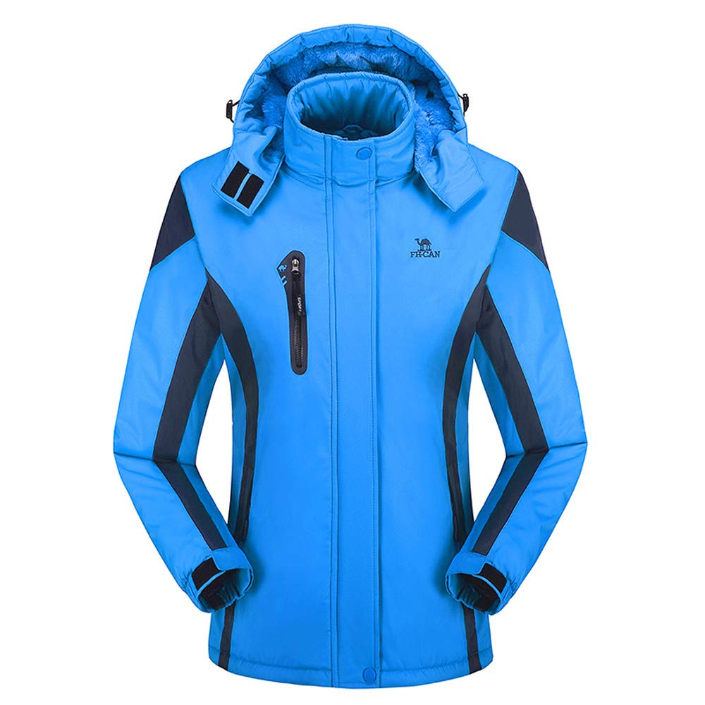 iYYVV Womens Sport Outdoor Cashmere Thick Hoodie Removable Coat Windproof Warm Jacket