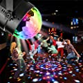 NIUBIER Party Lights,Disco ball,Disco Lights,Sound Actived 7 Colors LED Rotating Stage DJ kids Night Lights for Home Children Birthday Toys Gift,Club,Wedding,Karaoke Celebration(With remote control)