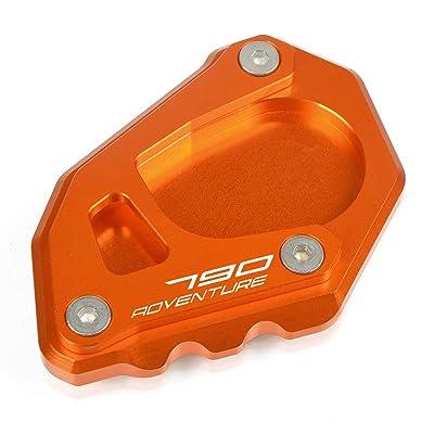 790 Adventure Motorcycle Kickstand Side Stand Enlarger Extension Enlarger Pate Pad For KTM 790 Adventure R 2020 790 Adventure S 2020 790 Adventure 2020 (Orange+Orange): Automotive