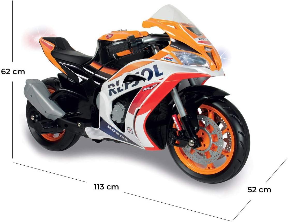 MOTO STRADALE CON MP3 LUCI A LED ALLE RUOTE MOTO PER BAMBINI RUOTE GOMMA BIANCA