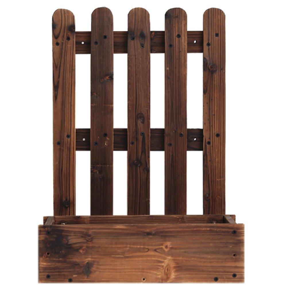 LVZAIXI 炭化木材防腐植え付け箱 (サイズ さいず : 40 * 36 * 55cm) B07HD7VFL2  40*36*55cm
