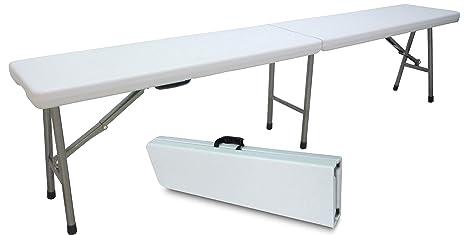 Panca panchina panchetta 183x30h44cm pieghevole in dura resina di