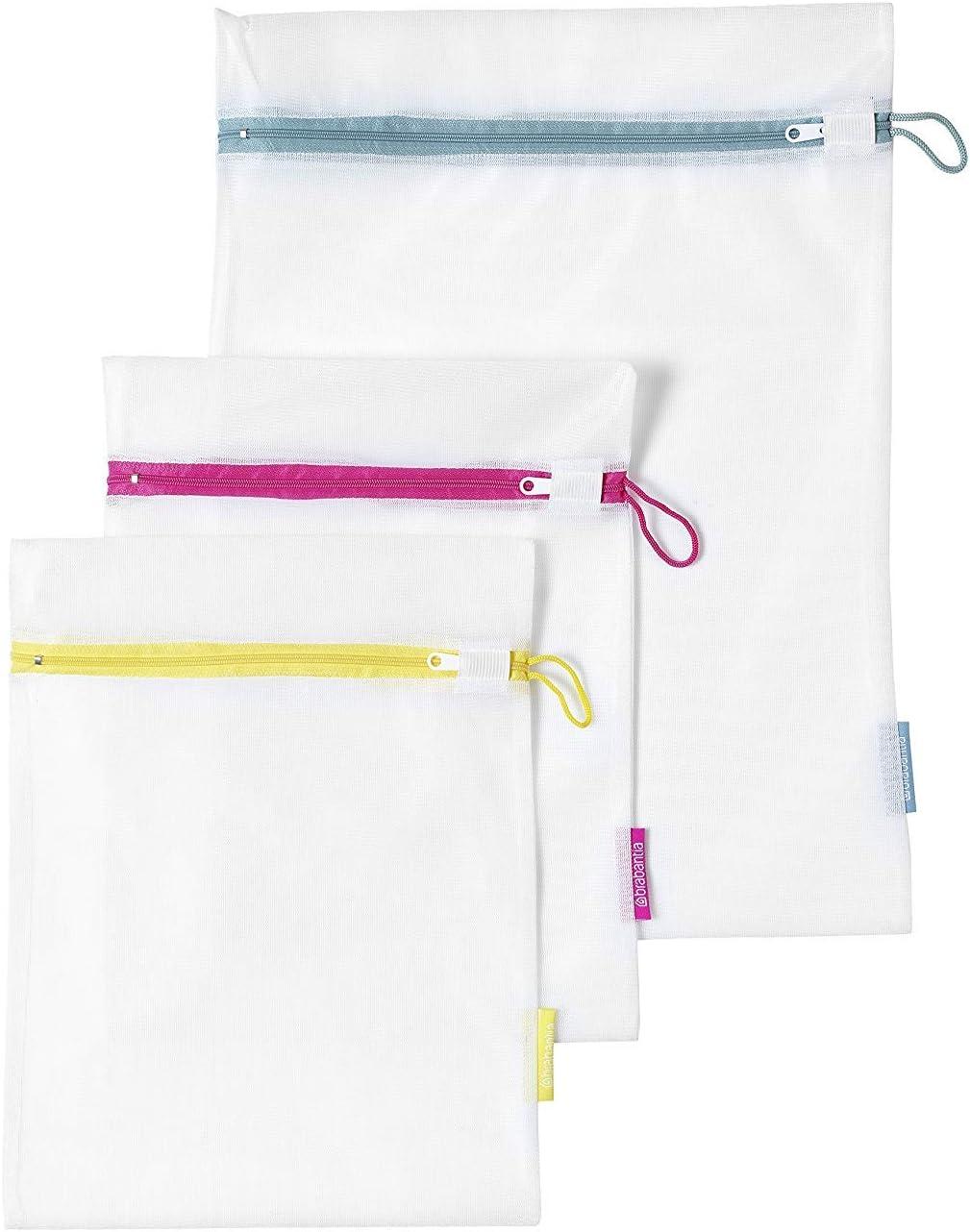 Brabantia 105388 - Juego de 3 bolsas para lavadora, 2 de 33 x 25 cm, 1 de 45 x 33 cm, blanco