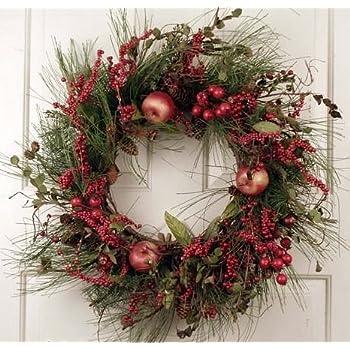wreaths for front doorsAmazoncom Evergreen Red Berry Silk Winter Christmas Front Door