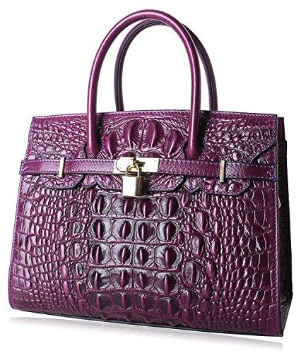 30cm Women Violet Handle Purses Designer And Top Handbags Satchel Bags Handbags Croco PIJUSHI Crocodile UPqdU7