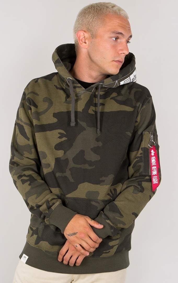 Alpha Industries Printed Tape Hoodie Camouflage S