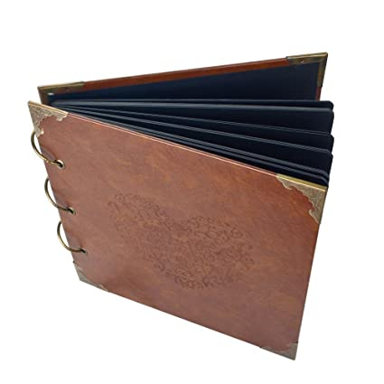 Amazon Pulaisen Heart Shaped Leather Scrapbook Handmade Wedding