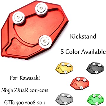 For Kawasaki GTR1400 08-11//ZX14R 11-12 CNC Sidestand Kickstand Enlarge Foot Pad