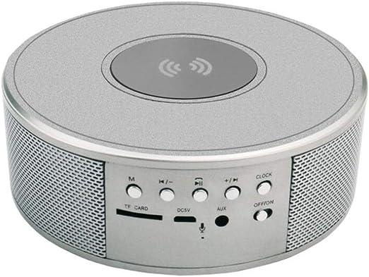 DGYAN Altavoz Bluetooth inalámbrico Pantalla Led Reloj Alarma Estéreo Subwoofer Portátil Altavoz Aux TF USB Reproductor de Mp3: Amazon.es: Jardín