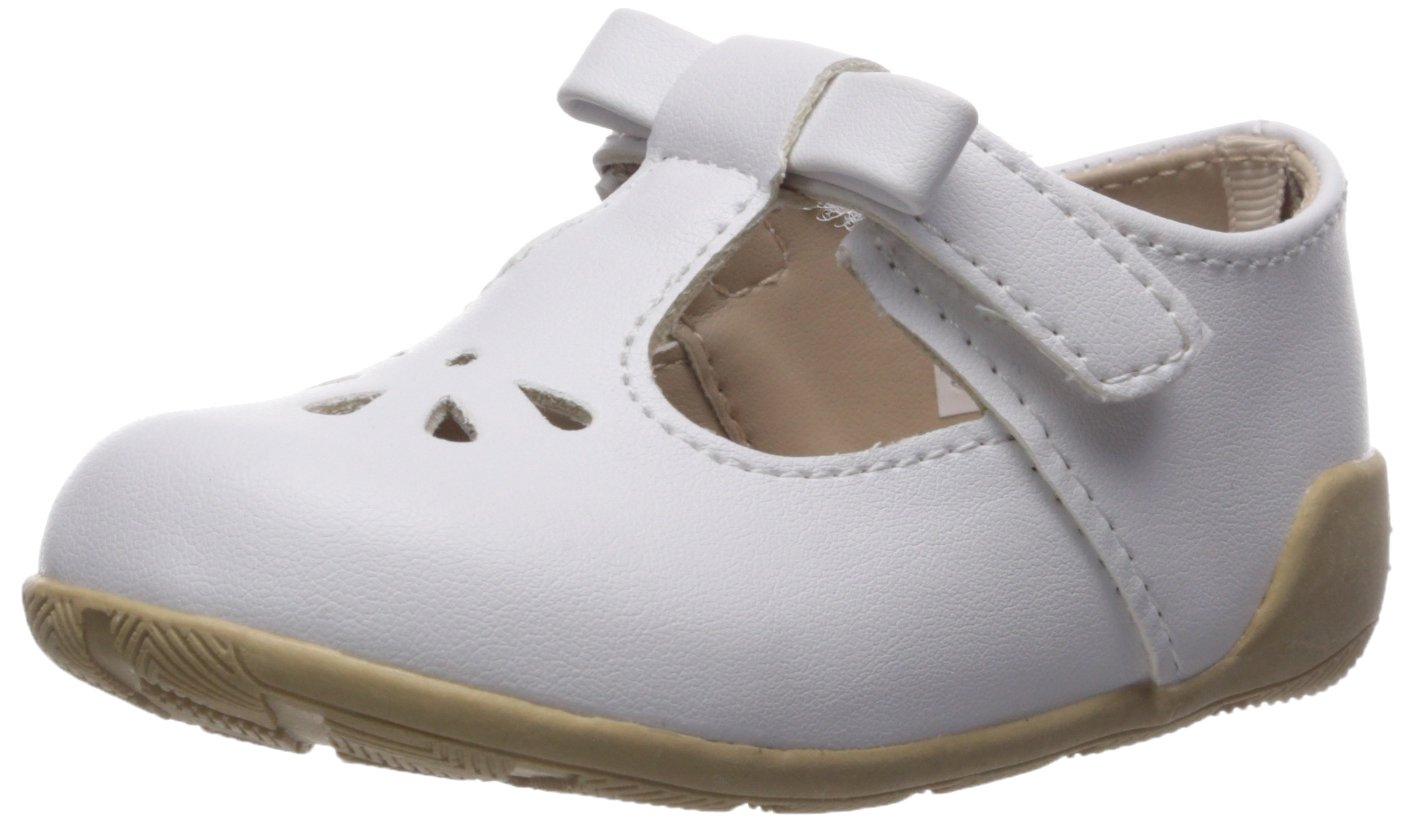Baby Deer Girls' 6081 Mary Jane Flat, White, 5 Child US Toddler by Baby Deer