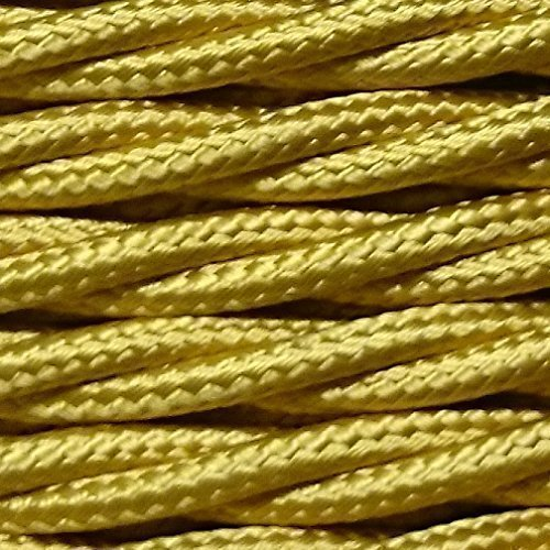 3 core 0.75mm twisted braided fabric electrical lighting flex cable gold per metre Liminaires