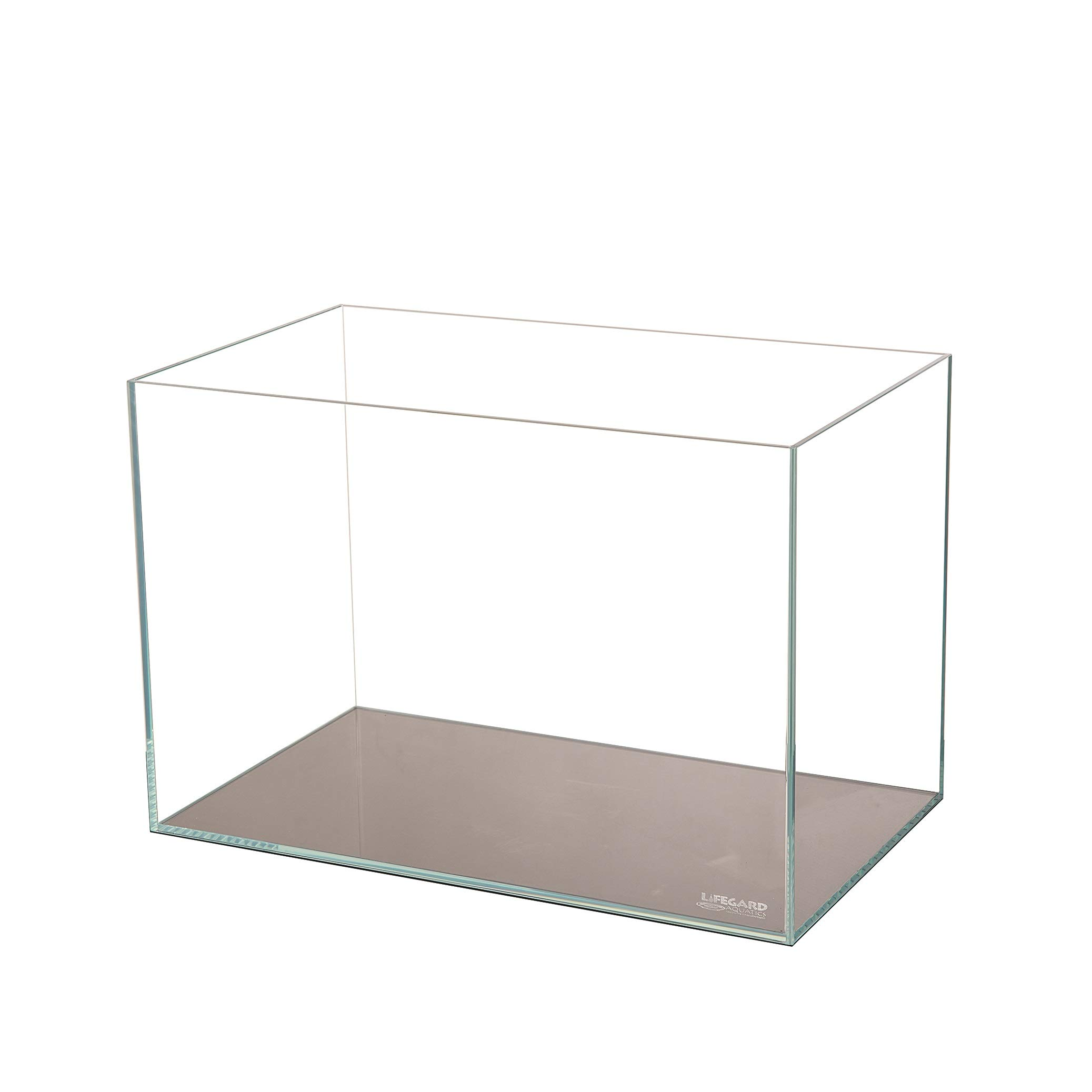 Lifegard Aquatics Ultra Low Iron Crystal Aquarium Beveled Edge 45° Rimless 17.11 Gallons, Clear by Lifegard Aquatics