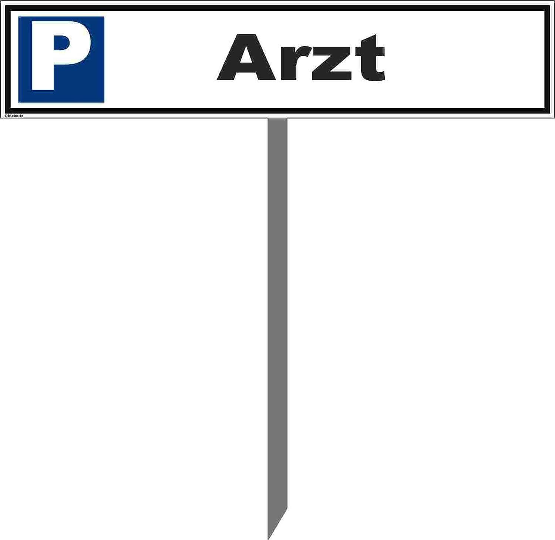 Arzt STABIL Parkplatzschild 52 x 11cm
