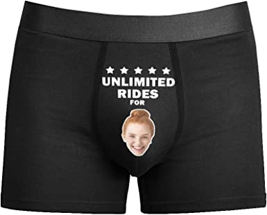 Custom Underwear for Men Personalized Face Boxers Briefs Photo on Underpants Gift for Holiday