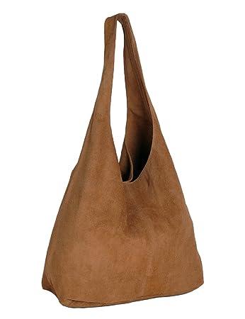 70043038c118d ImiLoa Ledertasche braun Lederhandtasche Tasche Shopper Wildleder  Handtaschen Schultertaschen Beuteltasche Leder DIN-A4 20-