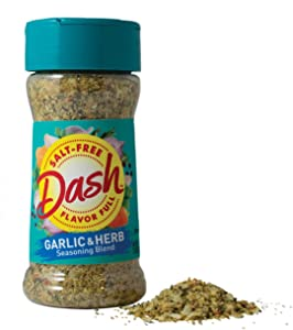 Dash Salt-Free Seasoning Blend, Garlic & Herb, 2.5 Ounce (Packaging May Vary)
