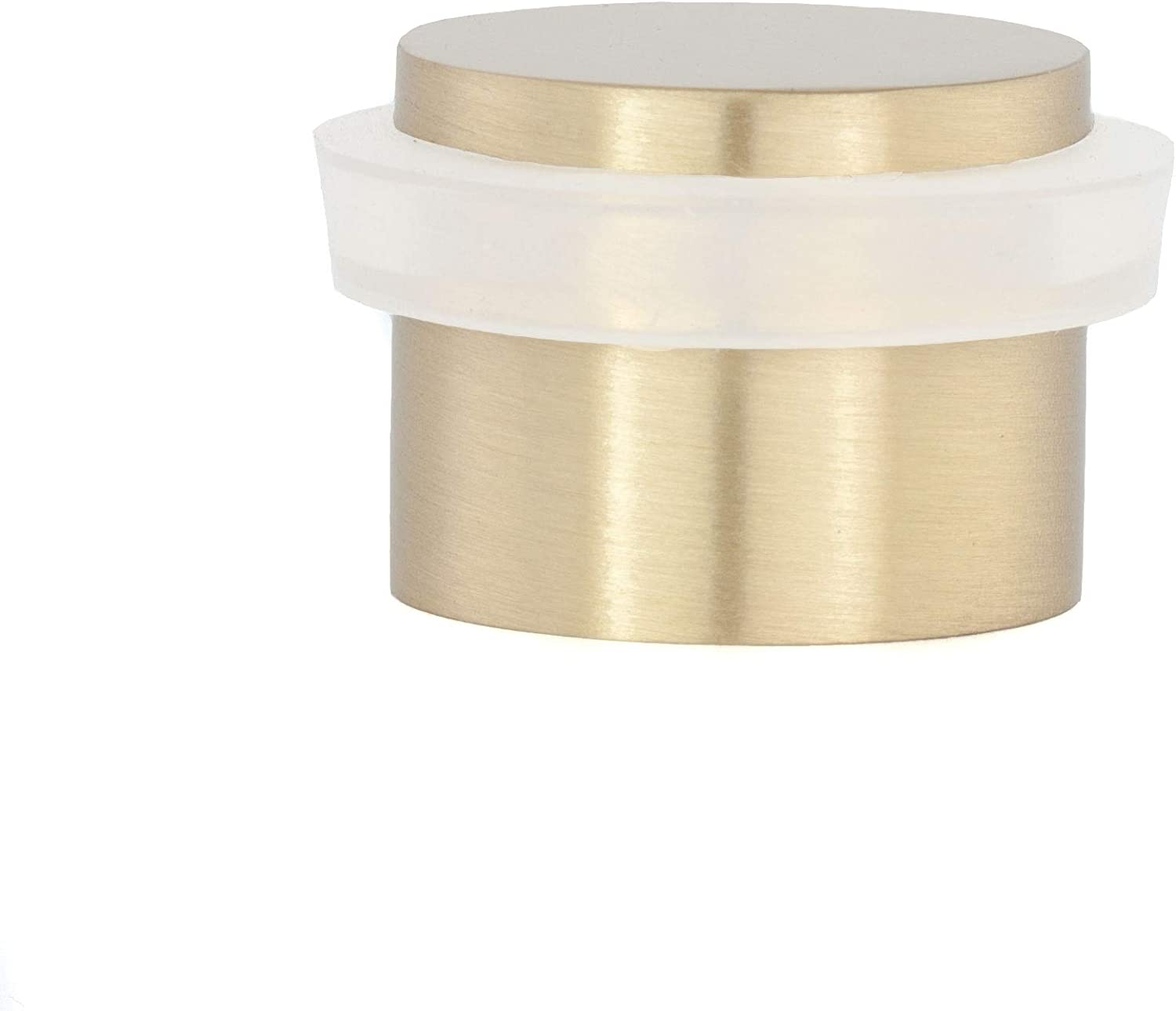 EVI Herrajes 04019124BLM I-191/24-B Adhesive Door Stop, Gold, Silent, 28x20mm, Mate Brass-Rubber White