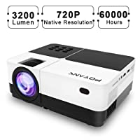 Deals on POYANK 3200Lux Native 720P HD Imaging Video Projector