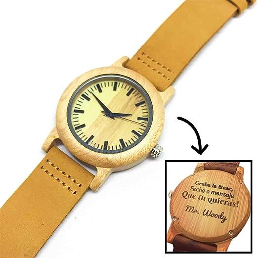 b4fca39fc7b6 Reloj de Madera Personalizado para Mujer con Grabado Láser de Texto ...