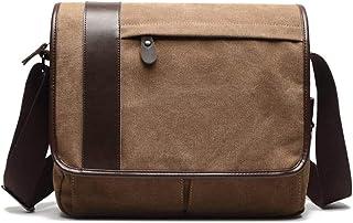 Lounayy Herren Umhängetasche Schultertasche Damen Geeignet Style Herren Jungen Vintage Festival Chic Classic Shoulder Bag (Color : Coffee, Size : One Size)