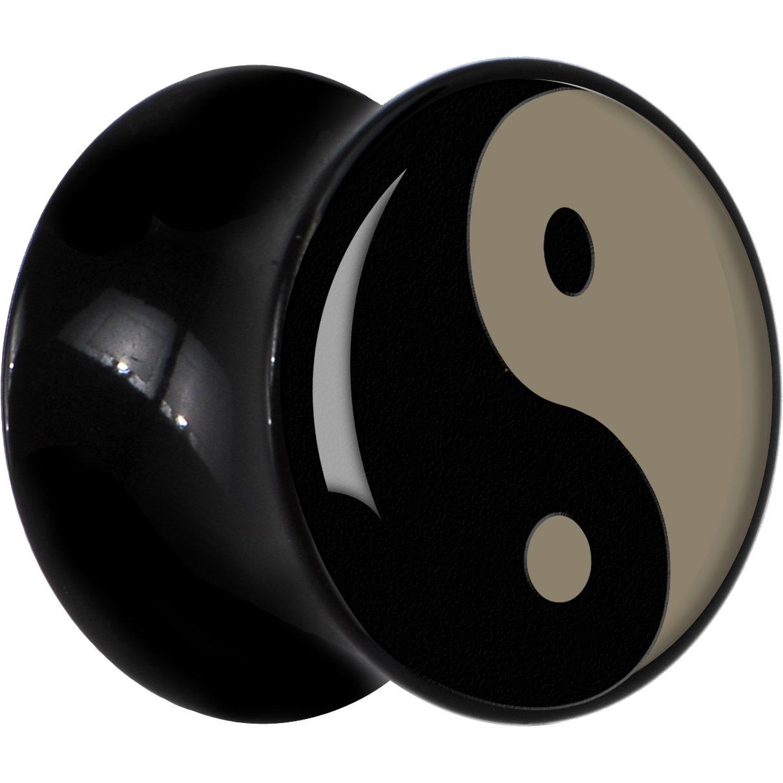 Negro Acrílico Yin Yang Dilatador Par 18mm: Amazon.es: Joyería