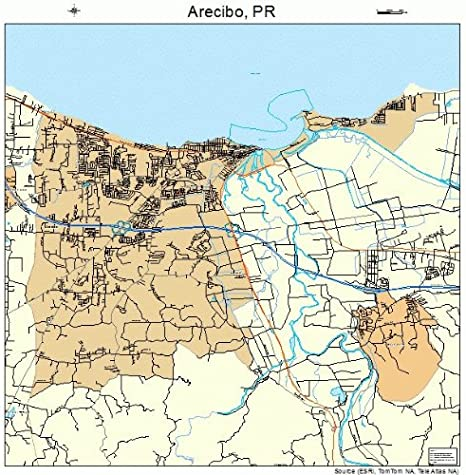 map of arecibo puerto rico Amazon Com Large Street Road Map Of Arecibo Puerto Rico Pr map of arecibo puerto rico