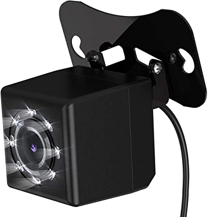Wide-Angle 170 Degrees Rearview Camera Vehicle Backup Camera Waterproof Hidden Mini Camera Vehicle Cameras Back Safety Parking Assist Line 8 LED Night Vision Lights
