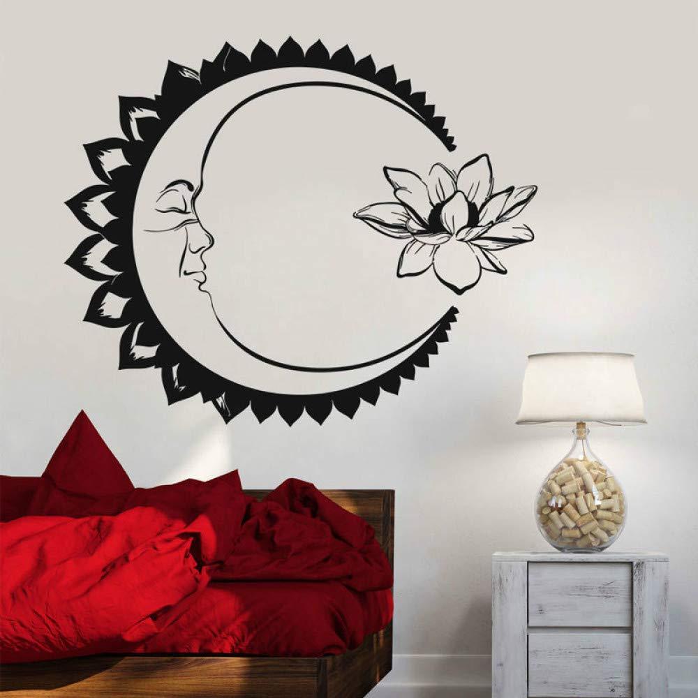 Moda Inicio Tatuajes de pared Luna Lotus Meditación Yoga Pegatina ...